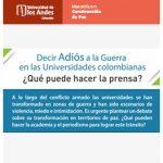 Decir Adiós a la Guerra en las Universidades Colombianas