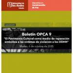 Lanzamiento Boletín OPCA 9