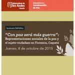 """Seminario DePolítica """"Con paz será más guerra"""""""