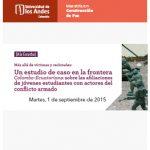 Más allá de víctimas y reclutados: Un estudio de caso en la frontera Colombo-Ecuatoriana